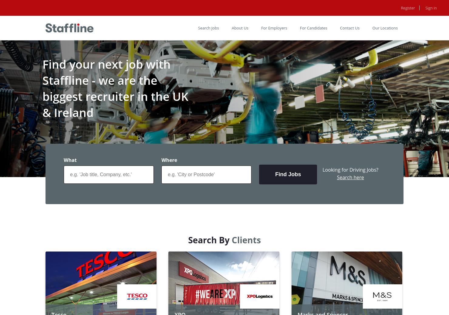Staffline Home Page