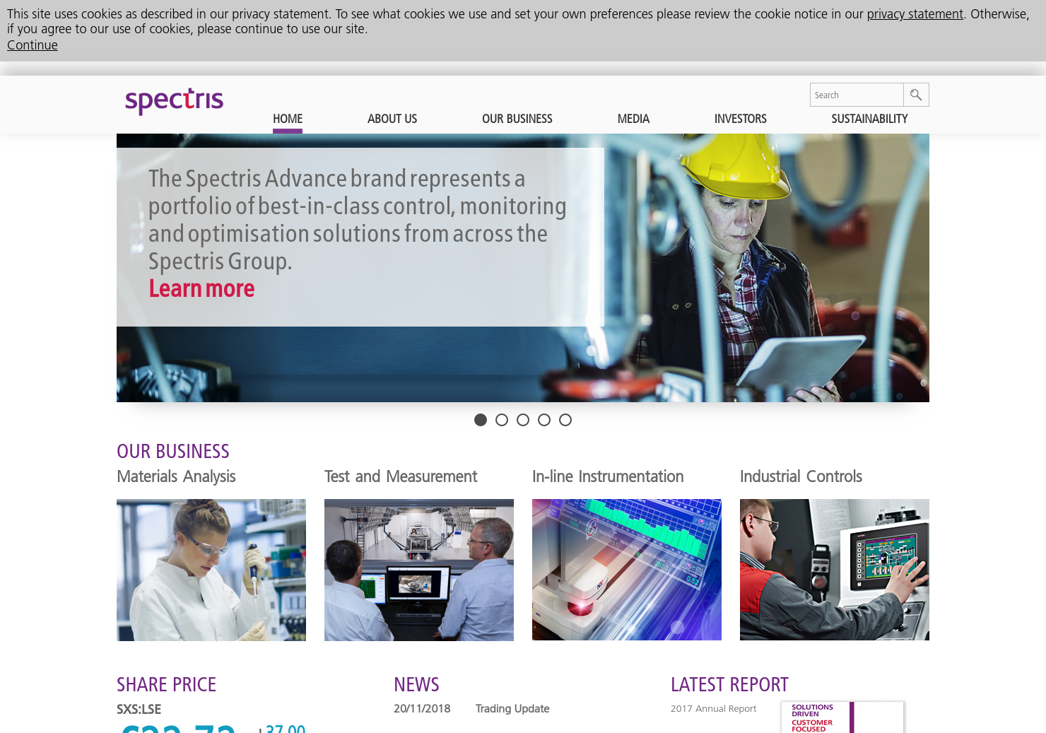Spectris Home Page