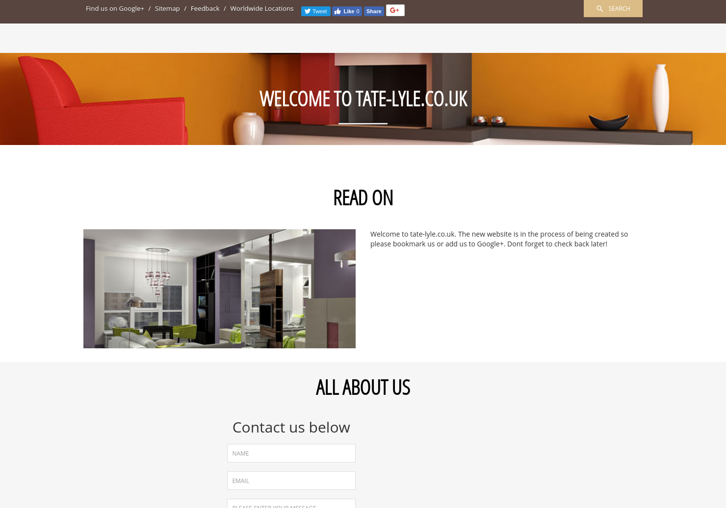 Tate & Lyle Home Page