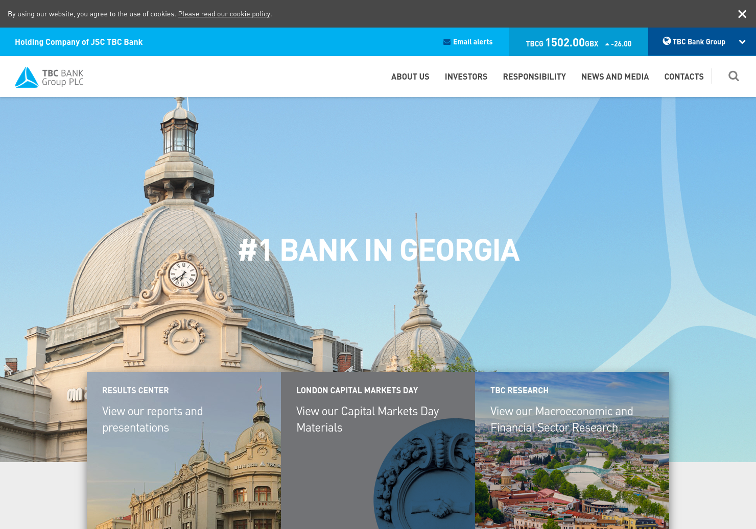 TBC Bank Group Home Page