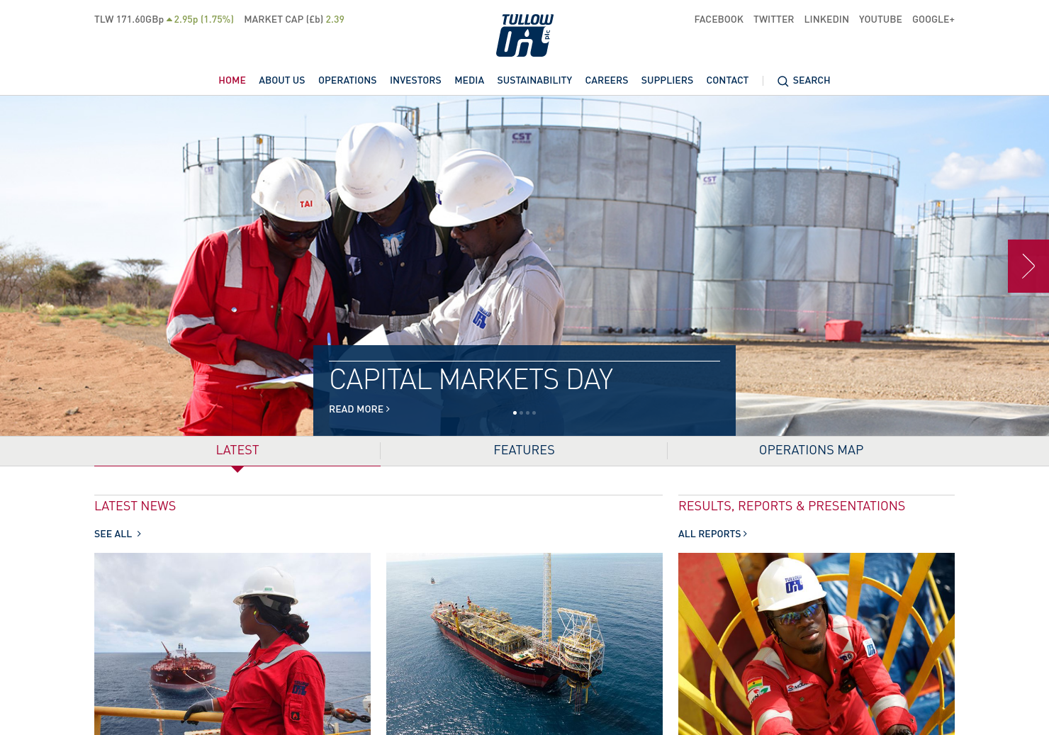 Tullow Oil Home Page