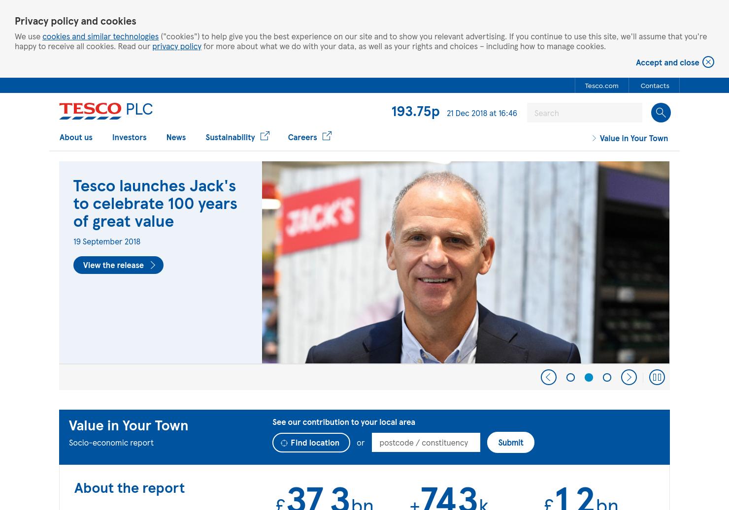 Tesco Home Page