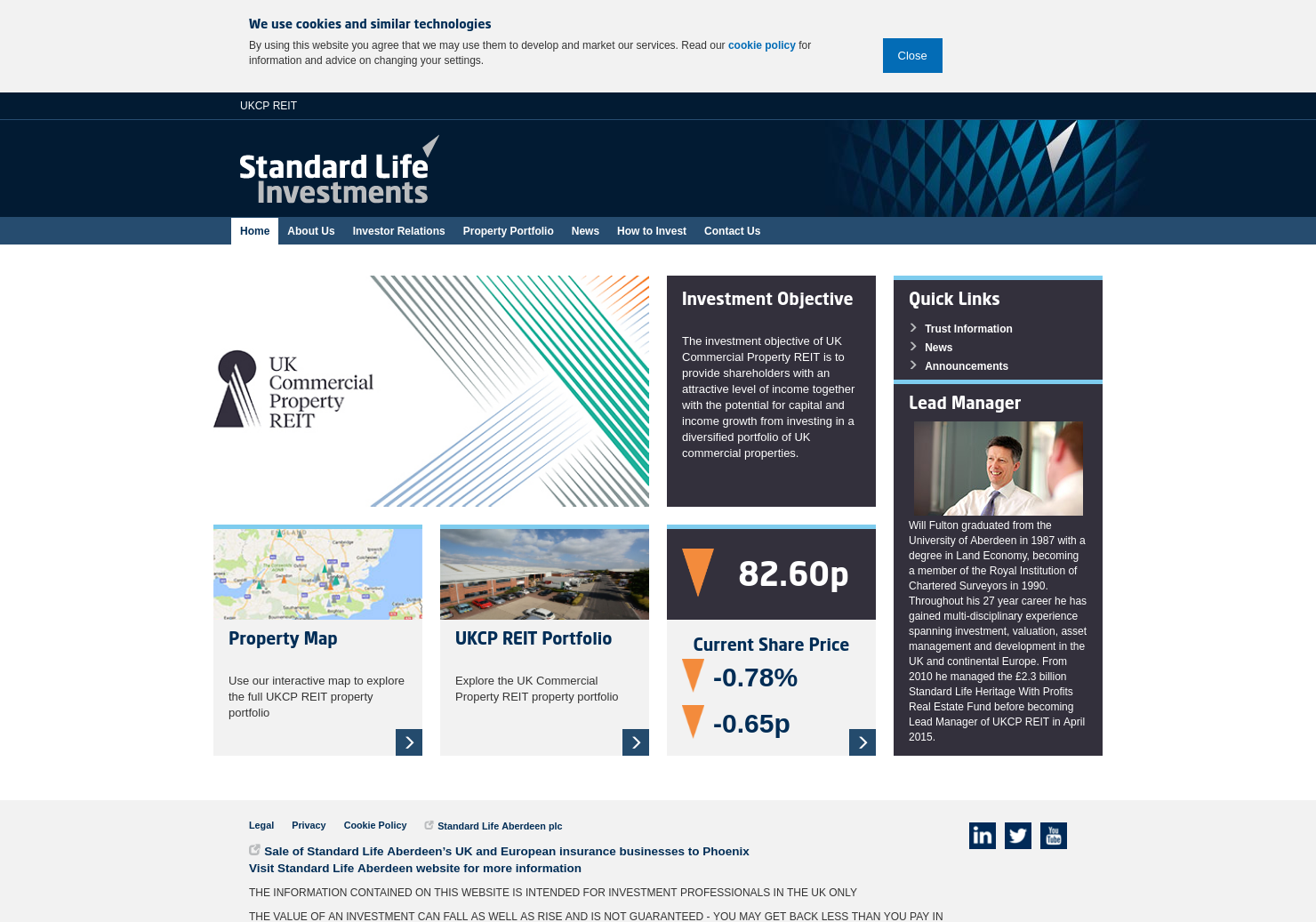 UK Commercial Property Trust Home Page