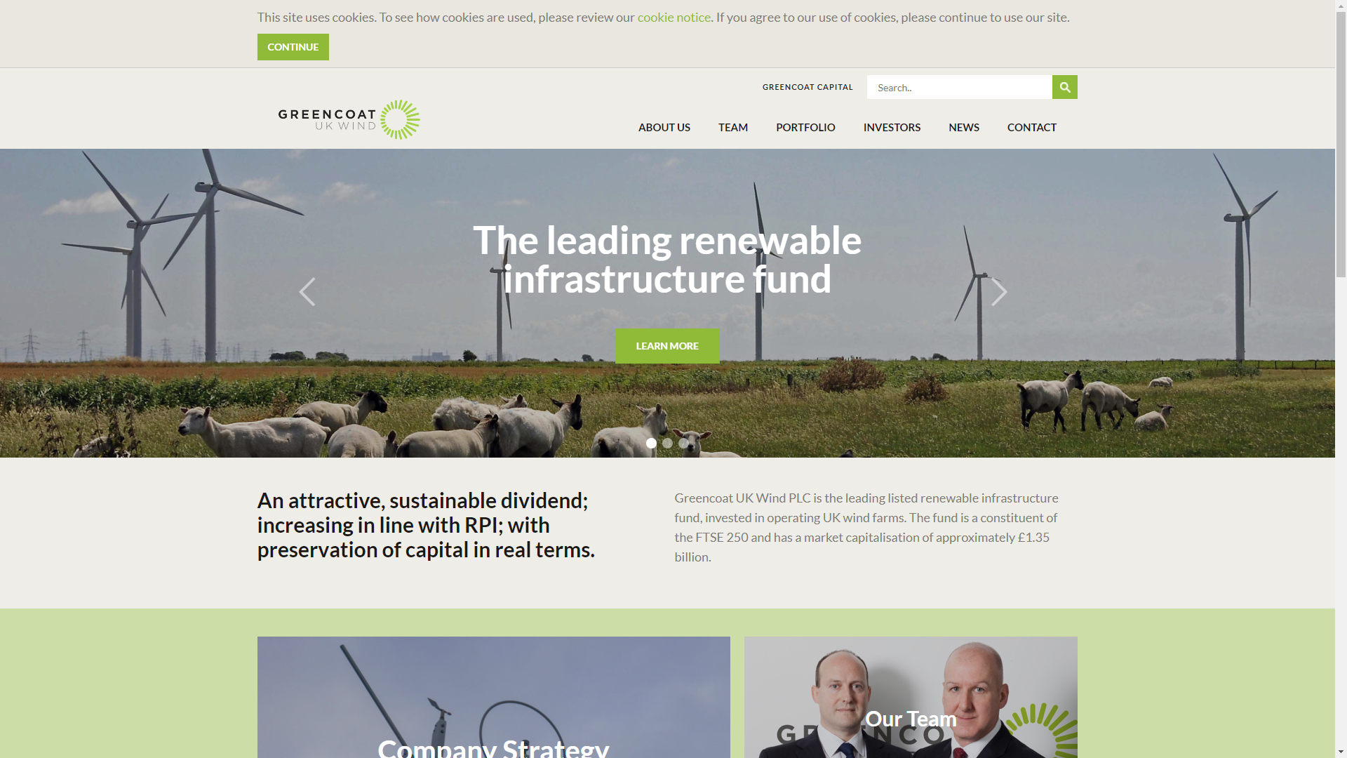 Greencoat UK Wind Home Page
