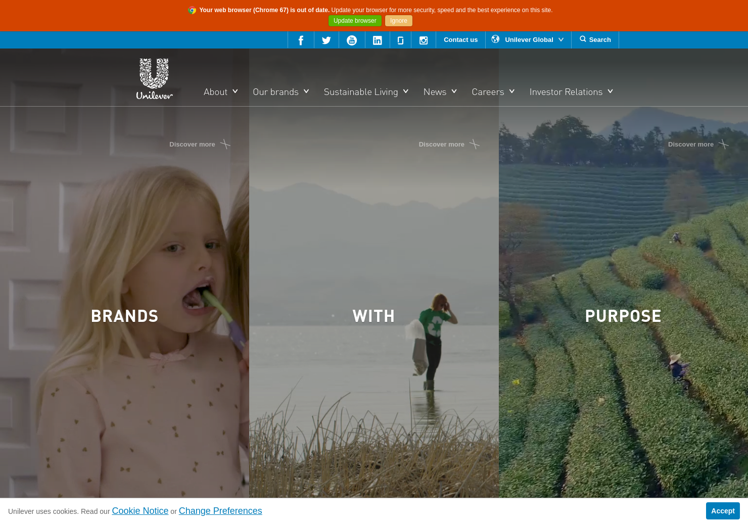 Unilever Home Page