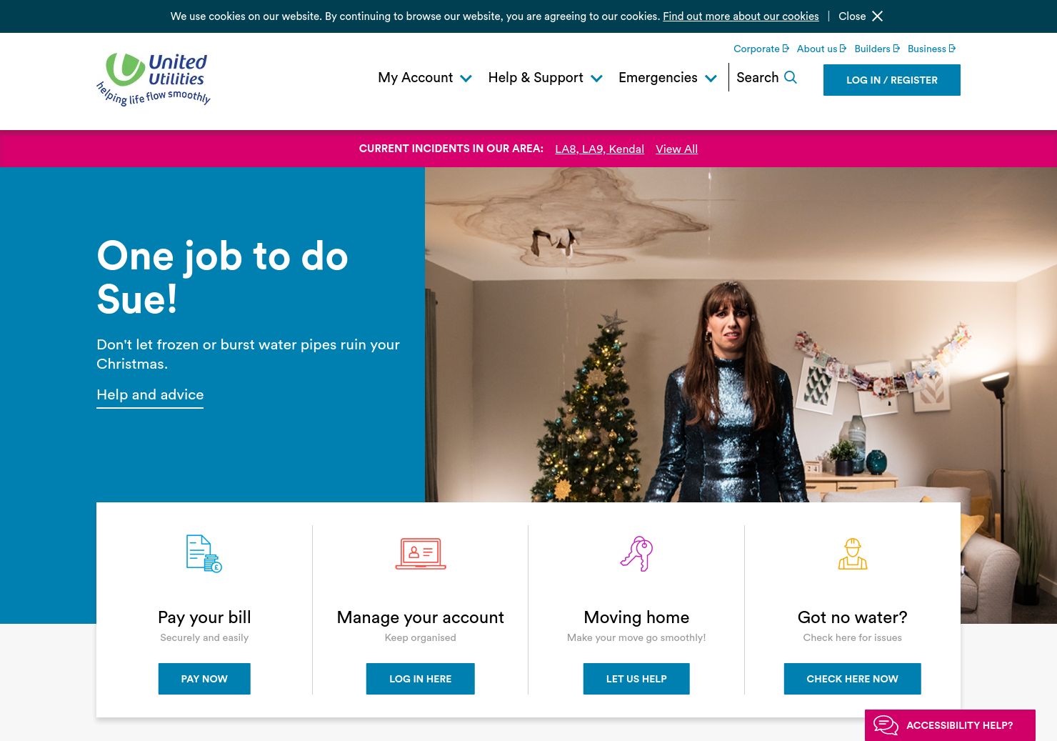 United Utilities Home Page