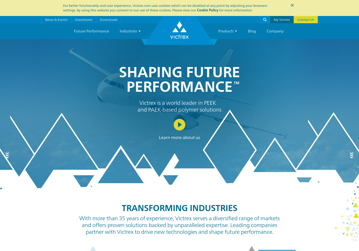 Victrex Home Page