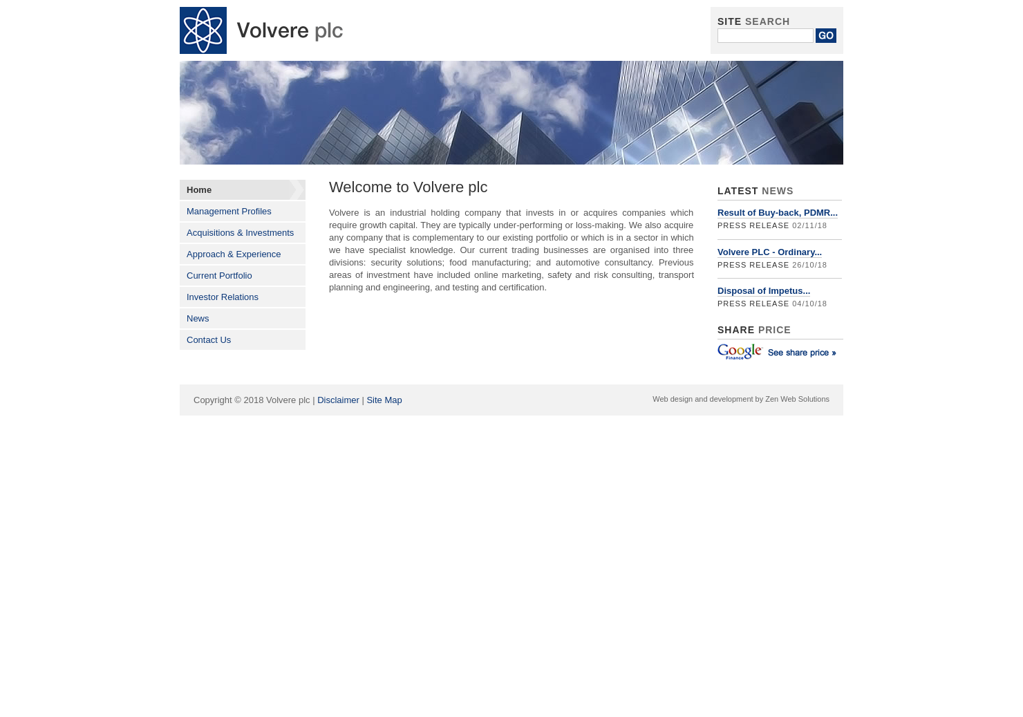 Volvere Home Page