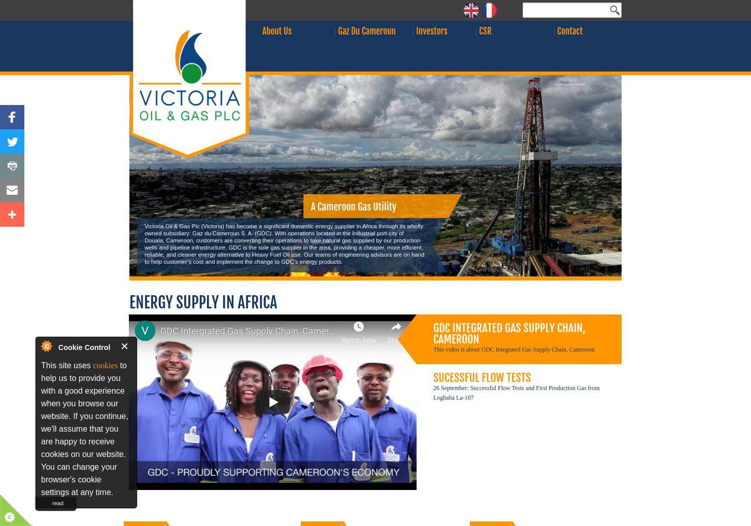 Victoria Oil & Gas Home Page