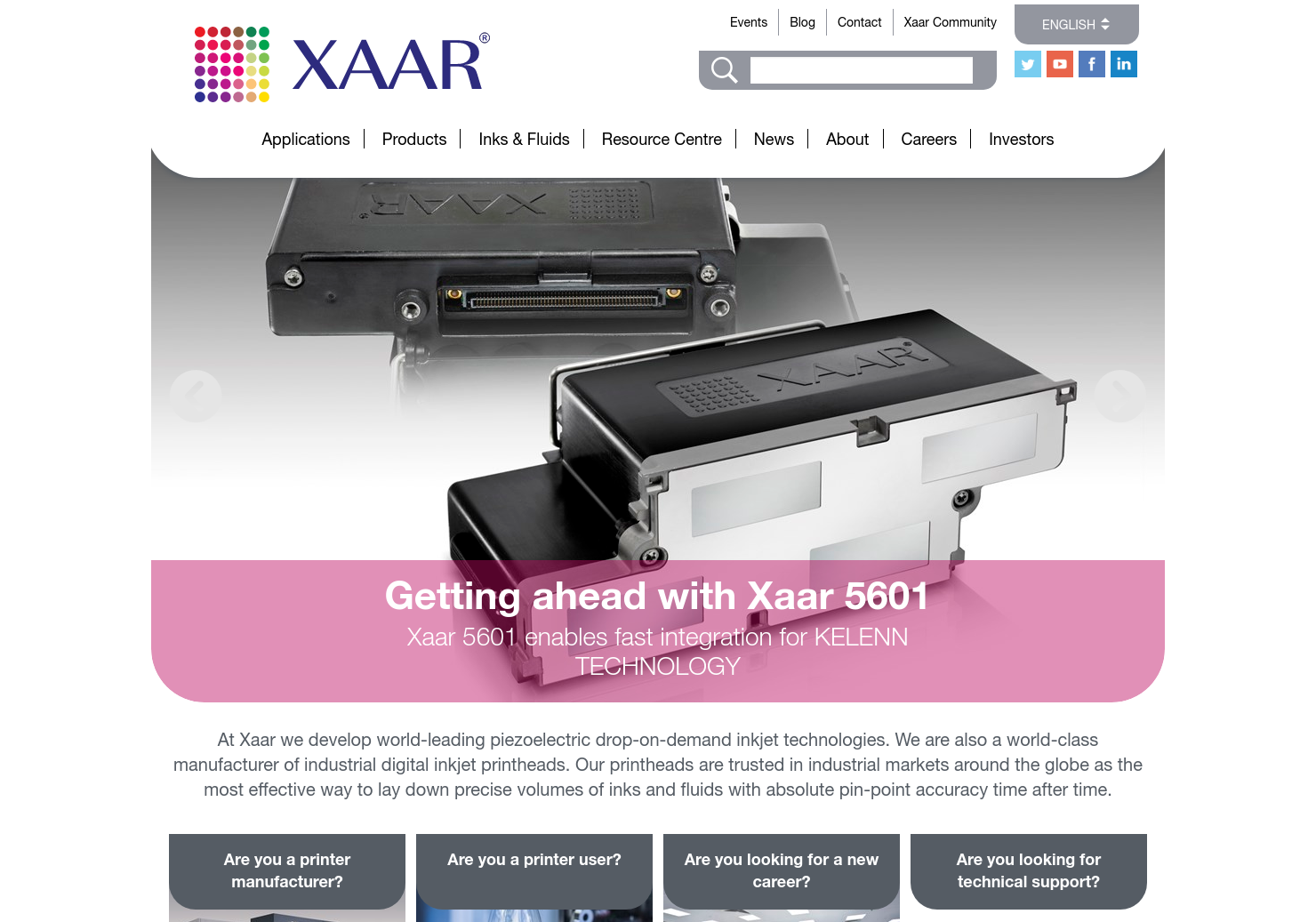 Xaar Home Page