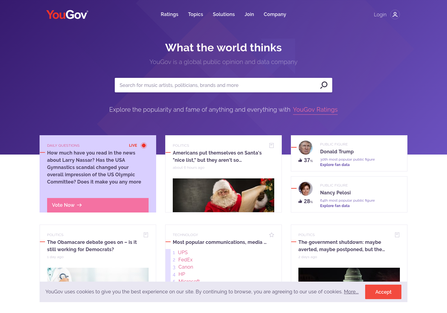 YouGov Home Page